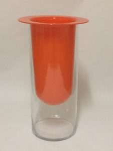 Orange Contemporary vase