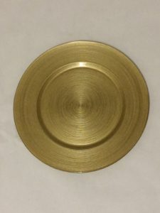 Circle Gold Charger Plate