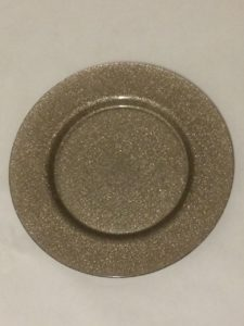 Ginger Glitter Charger Plate