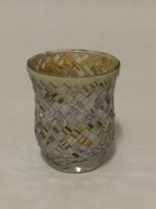 Silver and Gold Mercury Votive Holder