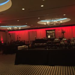 Holiday buffet decor