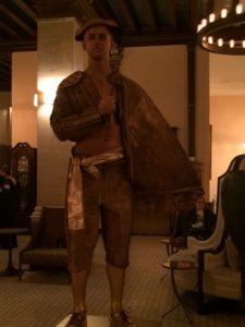 Living statue matador