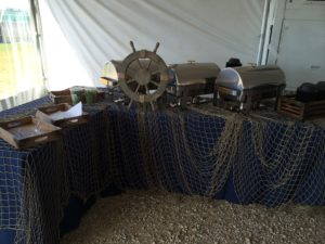 Nautical Theme Buffet Decor