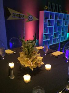Low Yellow Orchid Centerpiece