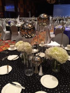 Metallic Centerpiece Orbs