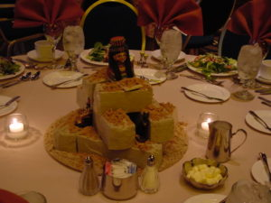 Egyptian Theme Table Centerpiece