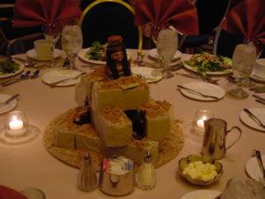 Egyptian Theme Table Centerpiece