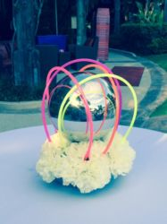 Glow stick centerpiece