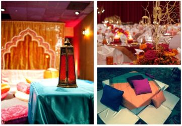 Indian Moroccan theme pink and muli color prom wedding