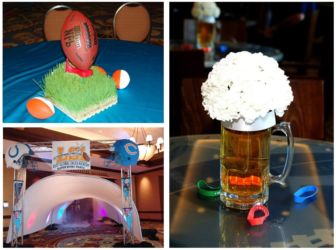 Sports theme for social birthday corporate or mitzvah