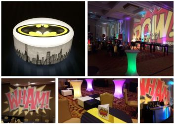 Super Hero theme for social birthday corporate or mitzva